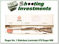 Ruger No. 1 Stainless Laminated 375 Ruger NIB!