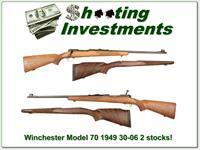 Winchester Model 70 Pre-64 1949 30-06 2 stocks!