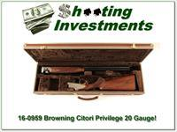 Browning Citori Privileged 20 Gauge ANIC