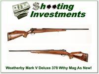Weatherby Mark V Deluxe 378 Wthy Mad as new!