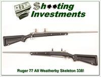 "Ruger Mark II Stainless ""Skeleton"" 338 Win Mag"