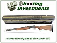 Browning BAR 22 Auto Exc Cond in box!
