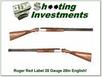Ruger Red Label Silver 28 Gauge 28in barrels English stock!