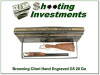 Browning Citori Grade 5 20 Ga Superlight hand engraved!