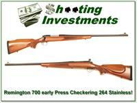 Remington 700 Vintage Pressed Checking Stainless 264 Win Mag!