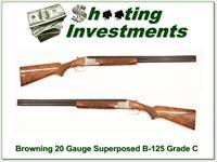 Browning B-125 Superposed Grade C 20 Gauge