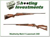 Weatherby Mark V Custom Shop Lazermark in 340 Wthy!