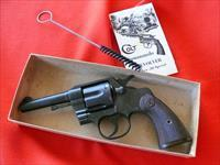 NIB COLT Commando  WWII Rare Contract  MASS. Army Guard  .38 Spl  4 ""