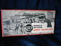 "Colt Single Action Army Revolver 2nd Generation ""STAGECOACH"" Box Only (empty, except for plastic bag)"