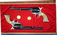 Colt 125th Anniversary set consists of (2) .45 LC SAA Revolvers in presentation box
