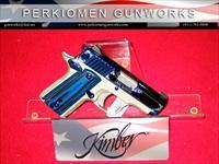 Micro SAPPHIRE, .380acp, New in Box w/Holster and Kimber pistol Rug