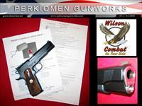 Classic .45acp, full size 1911, Gray/Black, French Walnut plus many additional custom extras, NIB