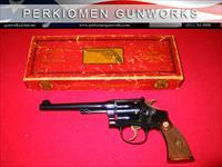 K-22 Outdoorsman's Pre-War, 1st Model, .22LR, 6 inch w/correct Red Picture Box.