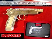 "Tanfoglio Gold Custom Race Gun, 45acp, 5.25"" SS, New in Hard Case"