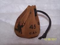 45 cal muzzleloader CYLINDER Leather bag with 55 RB bullets