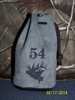 54 cal GRAY SUEDE Leather Bullet Bag w/RB bullets