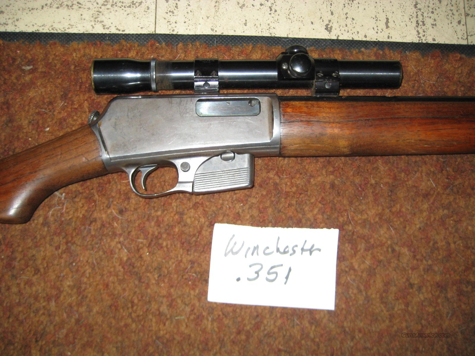 Winchester Model 1907 .351 Rifle Guns > Rifles > Winchester Rifles - Modern  Bolt/