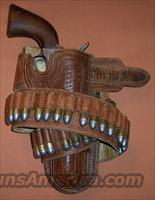 "Colt 1st Generation Single Action Army SAA .45 4.75"" ANTIQUE 1881 with Holster & Cartridge Belt"