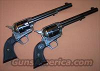 Colt 2nd Generation SAA Single Action Army, Consecutive Pair, 1st Year Production, Cased