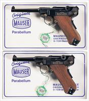Matching Set of Two Commemorative Mauser Luger Pistols