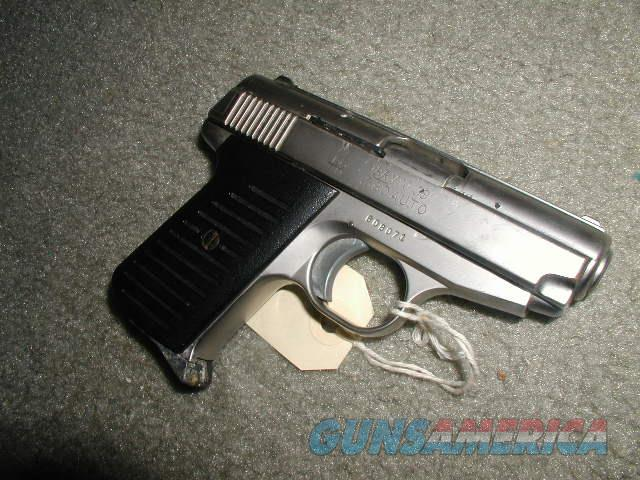 JENNING BRYCO MODEL 38 380 ACP SATIN NICKEL $145 U S P S MO DELIVERED