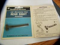 "Factory  Sealed S&W Model 27  4.2"" & 5 "" Rear sight assembly"