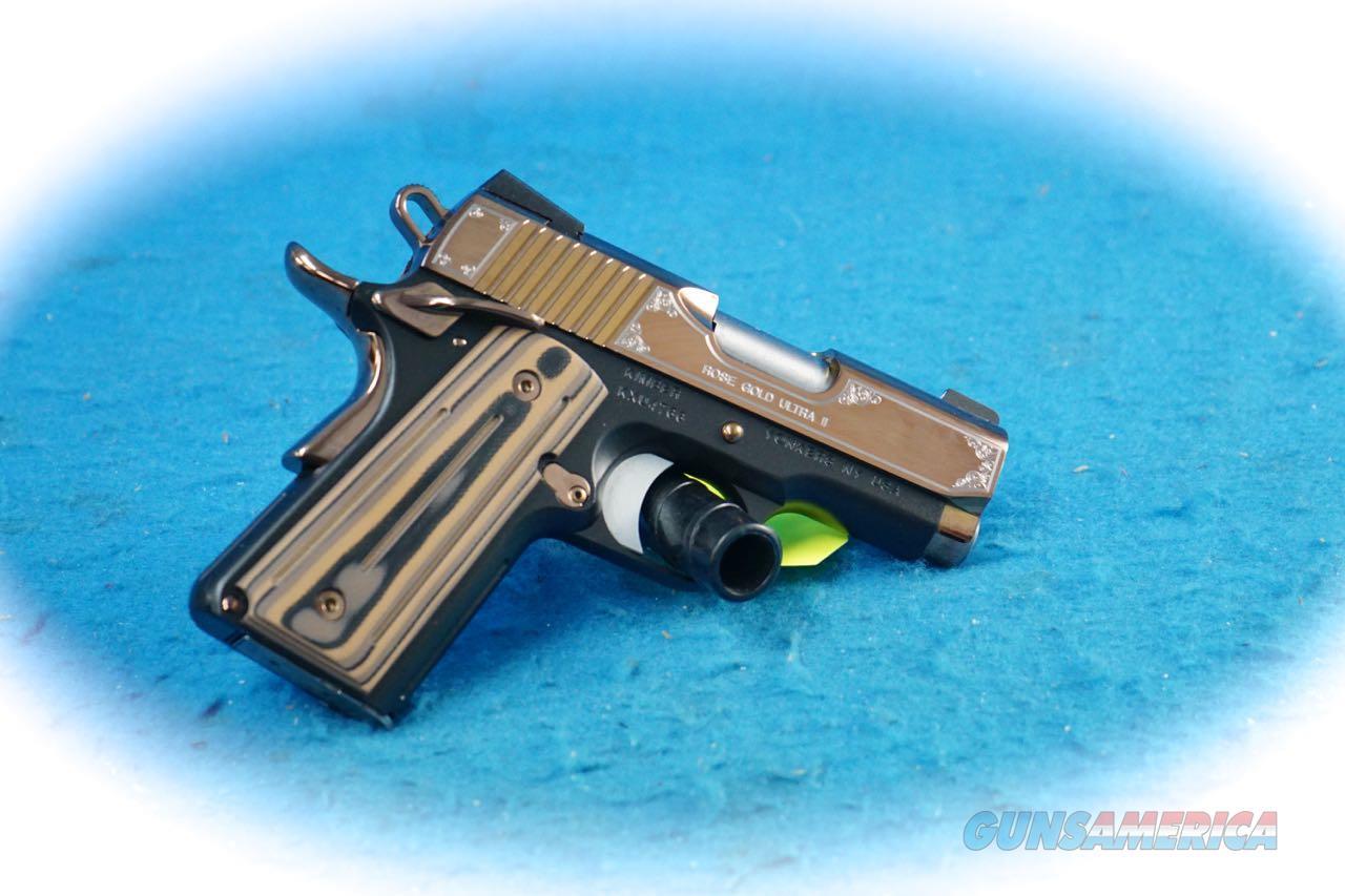 Kimber 1911 Rose Gold Ultra II 9mm Semi Auto Pistol Model 3200372 **New**