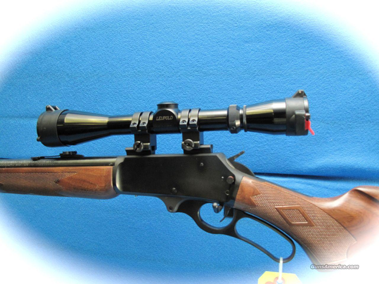 Marlin 1895 lever action rifle 45 70 cal w leupold scope like new