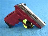 SCCY Model CPX-2 TTCR 9mm Pistol Red/SS **New**