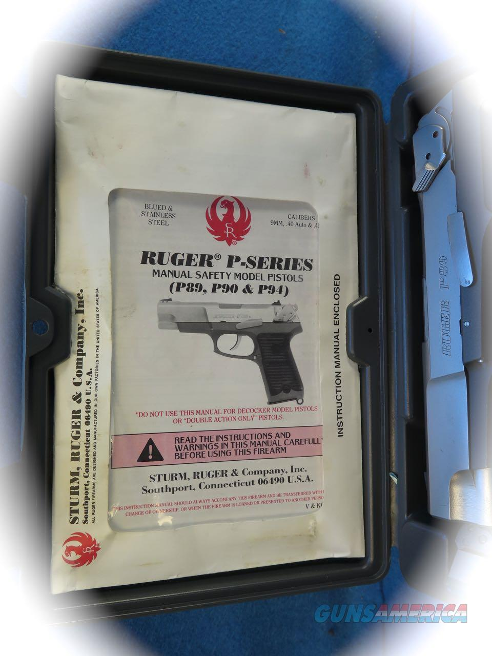 ruger p89 owners manual
