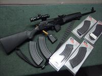 SAIGA RUSSIAN AK - IZHMASH 7.62X39 - WITH QD SCOPE MOUNT & 3.5X SCOPE & MAGS - EXCELLENT