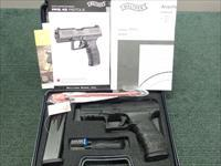 WALTHER PPQ 45 - .45ACP - AS NEW IN BOX WITH TWO 12-RND MAGS, PAPERS & FACTORY TEST TARGET