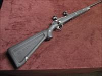 "RUGER 77/17 .17 HMR - FACTORY ZYTEL ""BOAT PADDLE"" STOCK - WITH RINGS - EXCELLENT"