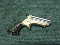 C. SHARPS PEPPERBOX .22 SHORT - ORIGINAL CARVED GRIPS - EXCELLENT