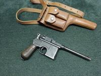 MAUSER C-96 BROOMHANDLE - 7.63 MAUSER - EARLY 1930 COMMERCIAL - GREAT BORE - NO IMPORT MARKINGS - EXCELLENT