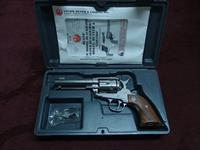 RUGER - OLD MODEL VAQUERO - .45 COLT - 4 5/8-INCH - HIGH POLISH STAINLESS - NEAR MINT IN BOX