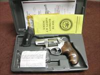 RUGER SP-101 .357 MAGNUM - STAINLESS -  2 1/4-INCH - WITH EXTRA SET OF FANCY WOOD COMBAT GRIPS - AS NEW IN BOX
