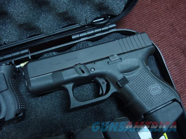 GLOCK 26 9MM - GEN 4 - WITH ZEV TECH FULCRUM ULTIMATE TRIGGER KIT - XS BIG  DOT EXPRESS TRITIUM SIGHTS - 5 EXTENDED MAGS - AS NEW IN BOX