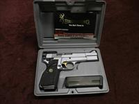 BROWNING HI POWER 9MM - CHROME FINISH - MADE IN 1991 - WITH FACTORY BOX