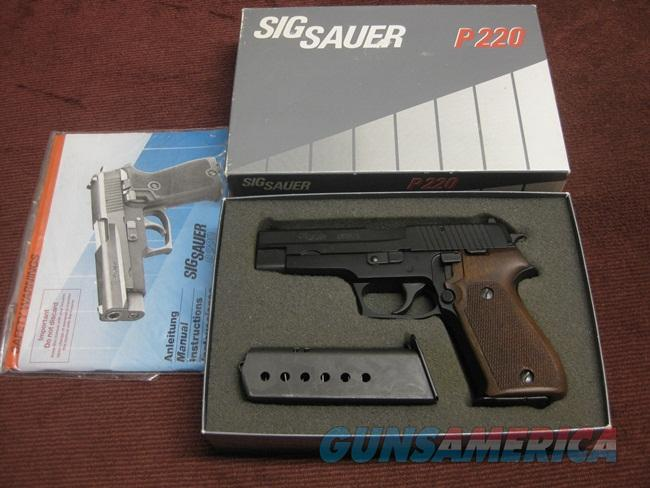 SIG SAUER P220  45ACP - WEST GERMAN - FACTORY K-KOTE - WALNUT GRIPS - 3  MAGS - AS NEW IN BOX