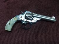 SMITH & WESSON 32 DOUBLE ACTION - FOURTH MODEL - TOP BREAK - .32 S&W - NICKEL - FACTORY MOTHER-OF-PEARL GRIPS