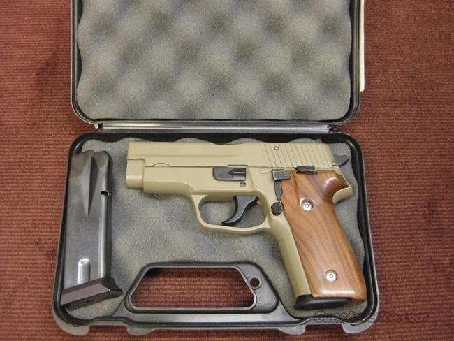 SIG SAUER P228 9MM - MADE IN W  GERMANY - CUSTOM CERAKOTE FINISH - WALNUT  GRIPS - TWO MAGS - EXCELLENT