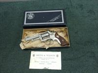 SMITH & WESSON 19-2 .357 MAGNUM - 4-INCH - NICKEL - MADE IN 1963 - EXCELLENT WITH BOX
