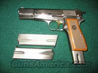Browning Hi Power in Factory Nickel finish