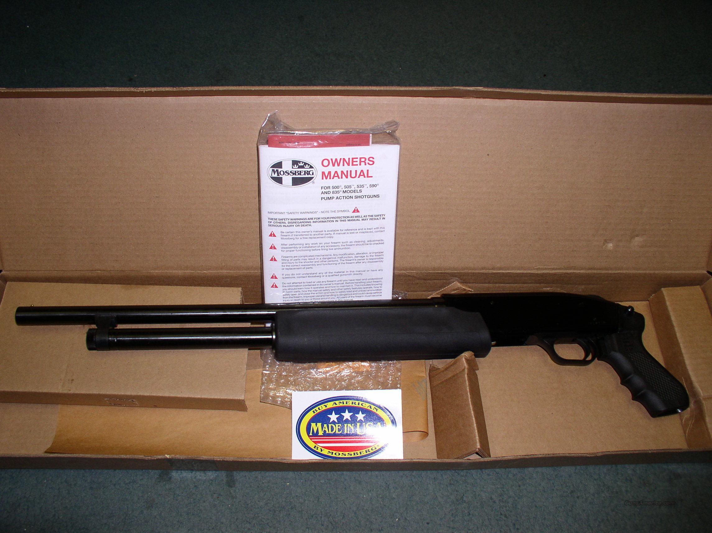 MOSSBERG 500 PERSUADER 20 GA. PISTOL GRIP Guns > Shotguns > Mossberg  Shotguns > Pump