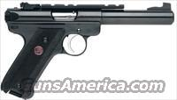 Ruger Mark III MKIII512 Rimfire Pistol 10101, 22 Long Rifle, 5 1/2 in, Black Syn Grip, Blue Steel Finish, 10 Rd, Adjustable Sights