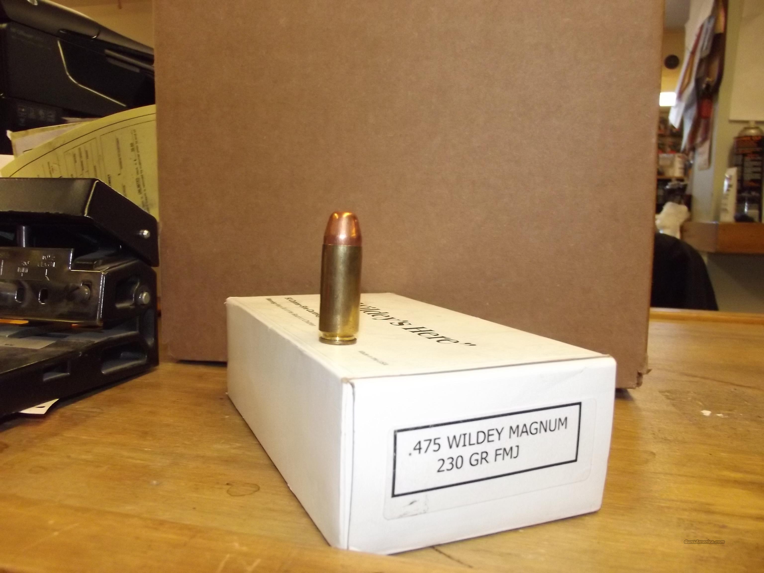 475 Wildey Magnum 230 Gr Fmj For Sale