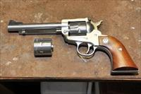 Ruger stainless single action 22 magnum with additional long rifle cylinder