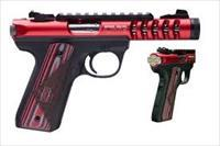 "Ruger 22/45 Lite NRA Edition Rimfire Pistol 3911, 22 LR, 4.4"" Threaded, Red/Grey Laminate NRA Grip, Red Finish, 10 Rd"