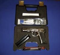 CZ 75B HIGH POLISHED STAINLESS STEEL 9MM PISTOL